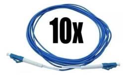 10unid Cordão Óptico Lc/pc - Lc/pc - Sm- 10 Metros