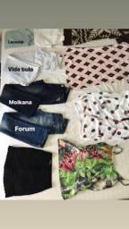 Lote de roupa feminina