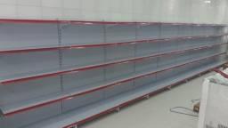 Prateleiras para supermercados / comércio em geral - montagem completa - faça sua cotação