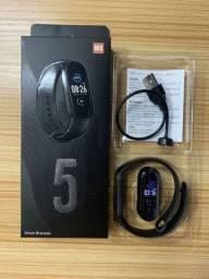 Smartwatch M5 Pulseira inteligente batimentos cardiacos pressao arterial