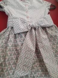 Vestido infantil 100% algodão