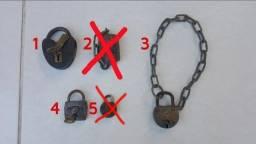 Título do anúncio: Cadeados Antigos Tamanho Grande Com Chave Funcionando Todos!