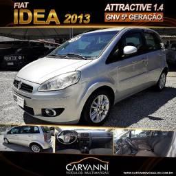 Título do anúncio: Fiat Idea Attractive 1.4 2013 Completo com GNV