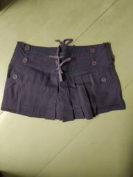 Short saia roxo Espaço Fashion M