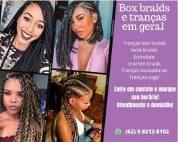 Título do anúncio: Box braids e tranças em geral