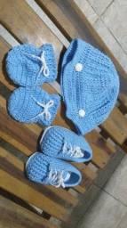 conjuntinho masculino de croche