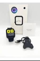 Relógio Iwo X6 Inteligente Smartwatch Faz E Recebe Chamadas