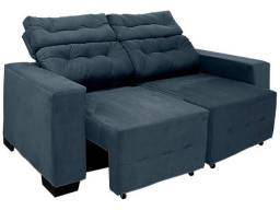Sofá Retrátil 3 Lugares  / Estofado Confortável Resistente / Sofá Cama