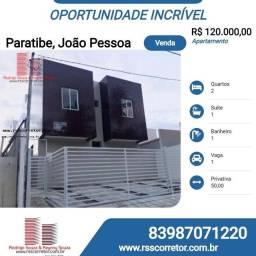 Apartamento para Venda em João Pessoa, Paratibe, 2 dormitórios, 1 suíte, 1 banheiro, 1 vag