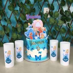 Título do anúncio: Kit de bolo e copos