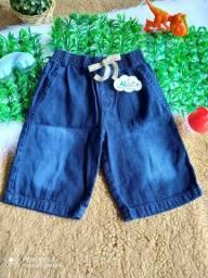 Bermudas infantis no jeans com elástico
