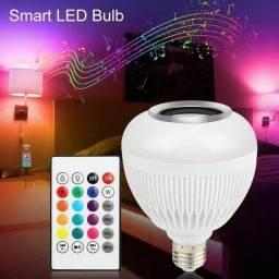 Título do anúncio: Lampada Bluetooth De Led Caixa De Som com Controle RGB