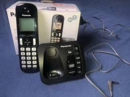 Título do anúncio: Telefone Sem Fio Panasonic KX-TGC210LBB - Identificador de Chamada Viva Voz Preto