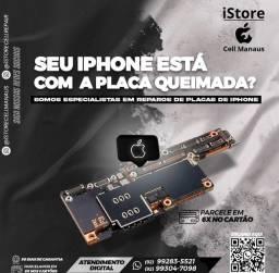 Reparos em placa de iphone