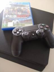 Título do anúncio: Playstation 4 impecável com 1 controle 1 jogo mídia física HD 1 terá