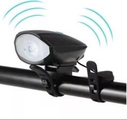 Título do anúncio: Lanterna de led com buzina para bicicleta recarregavel -
