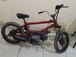 Bmx com motor crypton 115 cc aceito cartao