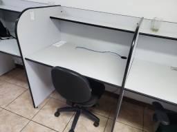 Título do anúncio: Baias para escritório (4 mesas)