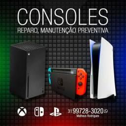 Manutenção em controles Xbox one e 360 e x / s, Ps 3 , 4 , 5, limpeza nós consoles