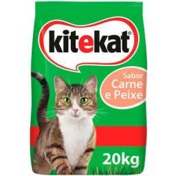 Ração gatos kit cat carne e peixe 20kg