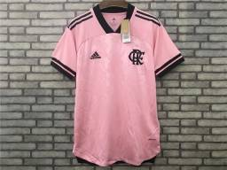 Camisa Flamengo Rosa 20/21 Adidas Torcedor Masculina