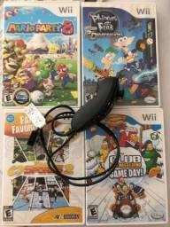 Título do anúncio: 04 Jogos e Nunchuck  - Originais Nintendo
