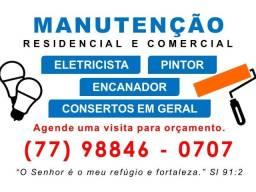 Título do anúncio: Eletricista | Pintor | Encanador | Consertos e Reformas