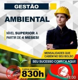 Título do anúncio: Curso Superior em Gestão Ambiental - Inicio Imediato, Curta Duração