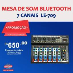 Título do anúncio: Mesa de som Bluetooth 7 canais  LE - 709