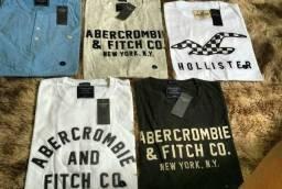 Camisa Hollister e Abercombrie