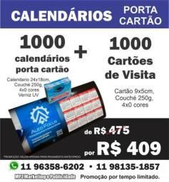 Calendários porta cartão+cartões de visita