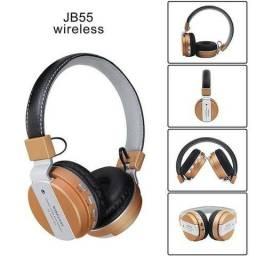 Fone Bluetooth B-55 S/ Fio Usb Fm Sd Headset Extra Bass