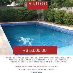 Condominio Villa Rica, Ephigenio Salles , 4 suítes grandes, armários climatizada, piscina