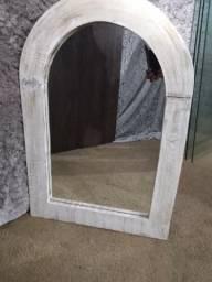 Lindo espelho 80x60 moldura pesada em pátina