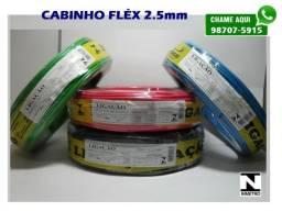 Fio Cabinho Fléx 2.5mm: 75,00