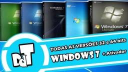 Dvd de todas as versoes do windows 7 para formataçao em computador e notebook