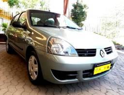 Clio Sedan Expression 1.6 flex 2009 completo, impecável