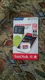 2 cartões de memória SanDisk ultra 32 GB+adaptadores