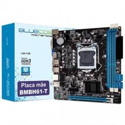 Placa Mae H61 Intel 2ª e 3ª Geraçao LGA 1155 Nova Garantia - Loja Natan Abreu