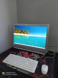 All In One Positivo Um5557 Quadcore 2.1 4gb 120gb SSD Tv Dig Tela 24 polegadas