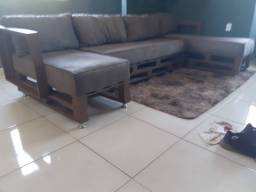 Sofa de palete.