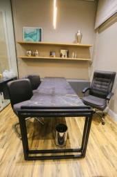 Título do anúncio: Mesa de escritório executivo com de mármore exótico + mobiliário de alto padrão