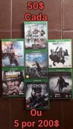 Jogos Xbox One 1 E 50$ 5 POR 200$