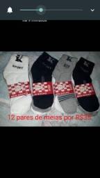 Vendo kit com 12 pares de meias