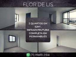 Título do anúncio: Flor de LIs, 2 quartos em 52m² com 1 vaga de garagem em Pernambués