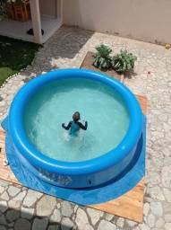Título do anúncio: Piscina inflável redonda 4 mil litros (com todos os acessórios)