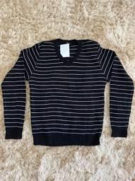 Blusa de tricô feminina para meia estação
