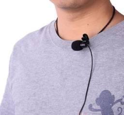 Microfone de Lapela P3 para Celular Smartphone Notebook Profissional Estéreo
