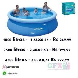 Título do anúncio: Piscina inflável Atrio :/ - tamanhos variados