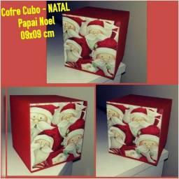 Título do anúncio: COFRE CUBO - NATAL 09x09cm